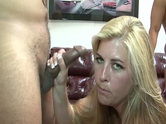 Chubby blonde gangbanged preview