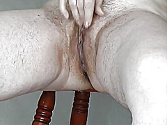 Mature with small saggy tits makes he...
