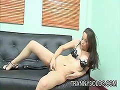 Ah-Me Movie:Deborah latin tranny tugging h...
