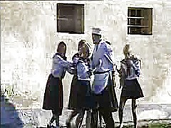 vintage, schoolgirl, group