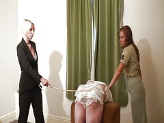 Caned and strapped in ... video
