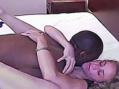 Hot blonde fucked by bbc
