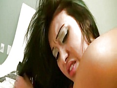Oriental cutie non-professional has a frst time anal experience