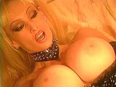 Busty chick in leather... - Xhamster