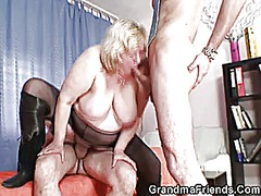 Xhamster Movie:Huge grandma riding and suckin...