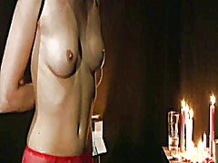 Skinny slut in sexy linjerie exploited by her master