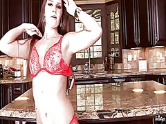 PinkRod - Abby cross does stript...