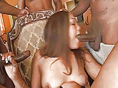 Xhamster Movie:Black slut services a lot of d...