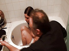 Thumb: Bath bondage of submis...