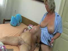 Mature woman using dil... video
