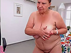 webcam, mature, striptease, granny,