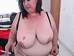 Alluring mature hot video