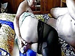 Old lady and her toys from Private Home Clips