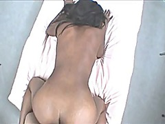 Creampie for sucking and fucking black girl