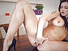 Thumb: Milf fingers herself o...