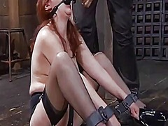 Thumb: Tied up babe is punish...