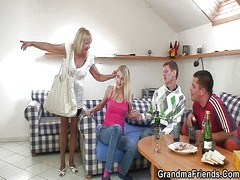 granny, threesome, mature,