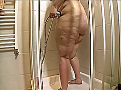 Bbw showering and fuck...