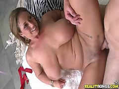 Eva notty has shaged between her huge knockers and inside coochie