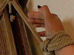 Smoking hot vicky chase has bonded and fucked onto an armchair