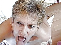group, granny, mature, cumshot,