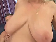 mature, blonde, tits