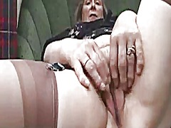 pov, mature, granny, masturbation