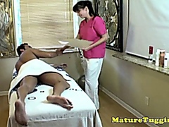 Busty cougar masseuse ... video