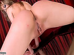 Hotshame Movie:Blonde blue angel parts her le...