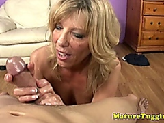 boobs, handjob, blowjob, mature,