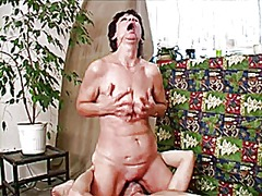 mature, granny, blowjob, facial