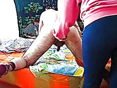 Private Home Clips Movie:Mistress A. - playing with cuc...