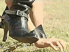 Xhamster Movie:Asian pony play boot lover