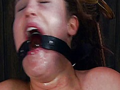 Gagged beauty with cla... preview