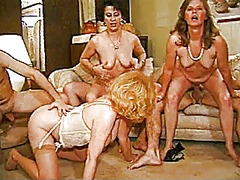 mature, threesome, group, granny