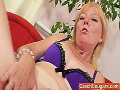 lady, pussy, older, blonde, mature,