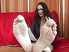 Foot job casting video