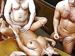 mature, gangbang, big boobs, german,