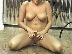 tits, blonde, mature, masturbation,