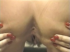 tits, blonde, mature, masturbation