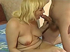 mature blonde and boy - Private Home Clips
