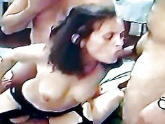 AndreaSex Enjoying 3 Guys in Gang Gangbang