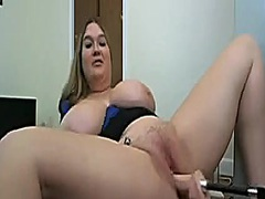 Thumb: Blonde BBW fucked by t...