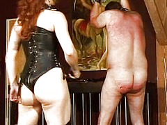 Xhamster Movie:Sexy mistress in leather whips...