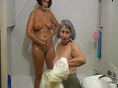 pussy, granny, bathroom, old, older,
