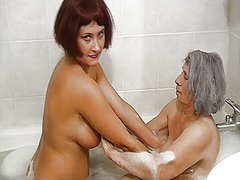 bathroom, pussy, lady, old, hungry, older