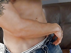 Gay masturbation with ...