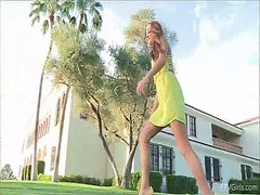 In a hot yellow dress ... video