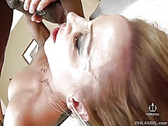 Prince yahshua makes his rock hard worm disappear in ultra sexy inari vachss mouth