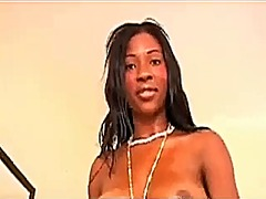 Busty african girl has pov sex with white man